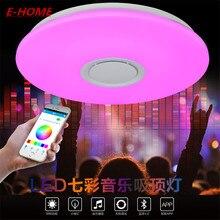 Luz de Techo Del LED Multi Color y Regulable con APLICACIÓN Bluetooth y Altavoces de Sonido para Sala de estar, dormitorio, habitación