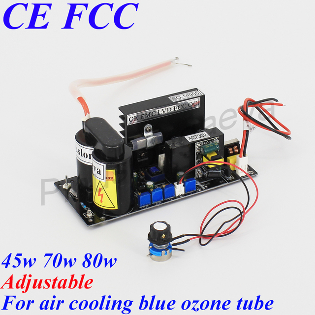 $ US $63.05 Pinuslongaeva Ozone PSU for Blue air cooling ozone tube 45w 70w 80w Adjustable High-voltage power supply