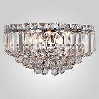 זוהר קיר גביש מודרני פמוט קיר אור מנורה עם 3 אורות לתאורה בבית כסף כרום מתכת משלוח חינם
