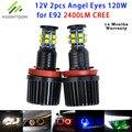 Angel Eyes For BMW  NO Error 120W Color White Yellow Red Green Bule H8 E92 E87 X6 E70 X5 E71LED Auto Headlight LED Maker Lamp