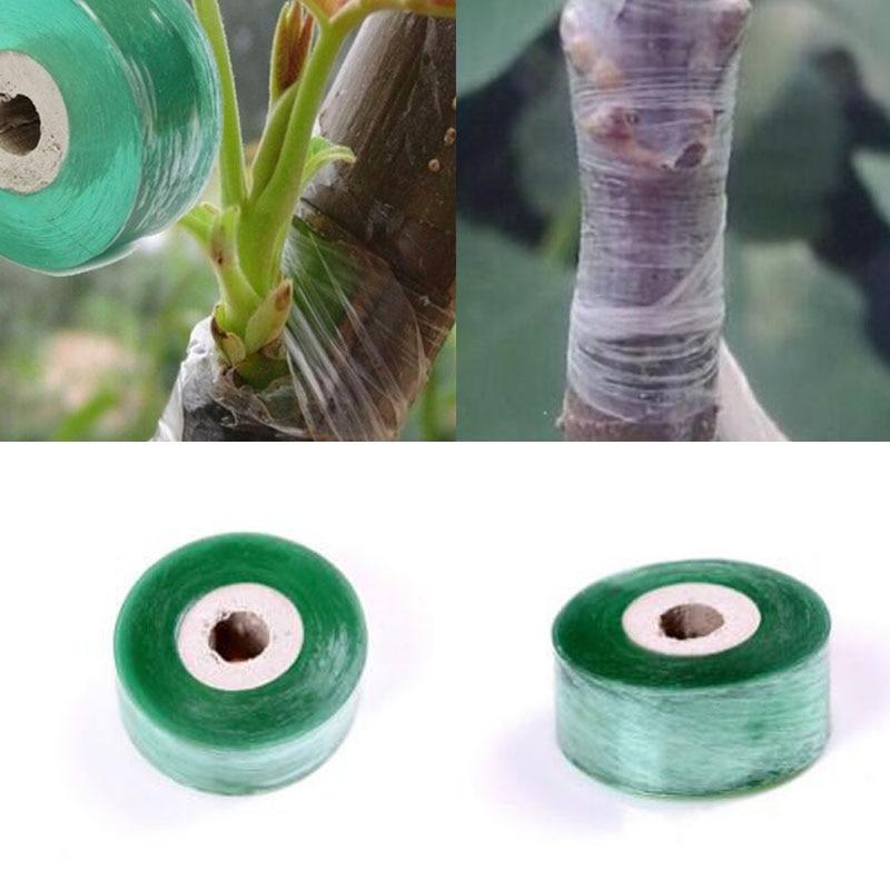 Grafting Tape Garden Tools Fruit Tree Secateurs Engraft Branch Gardening Bind Belt PVC Tie Tape 2CM X 100M / 1 Roll