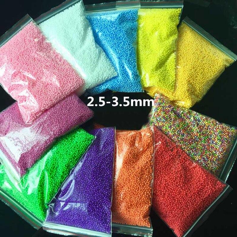 2.5-3.5mm Mini Gekleurde Ronde Schuim Ballen Crystal Fles Decoratie Kussen/sofa Filler Piepschuim Bal Diy Decoratie