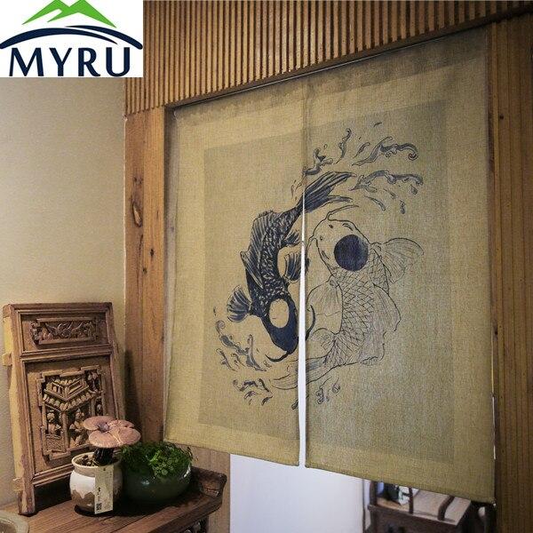 MYRU tenda della porta in stile Giapponese Ristorante bagno feng ...