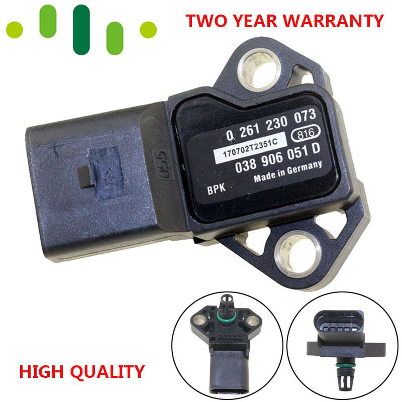 038 906 051 D Manifold Absolute Turbo MAP Sensor Boost Pressure Drucksensor Sender For AUDI A3 A4 A6 Q3 S3 TT 1.8 2.0 TFSI FSI T