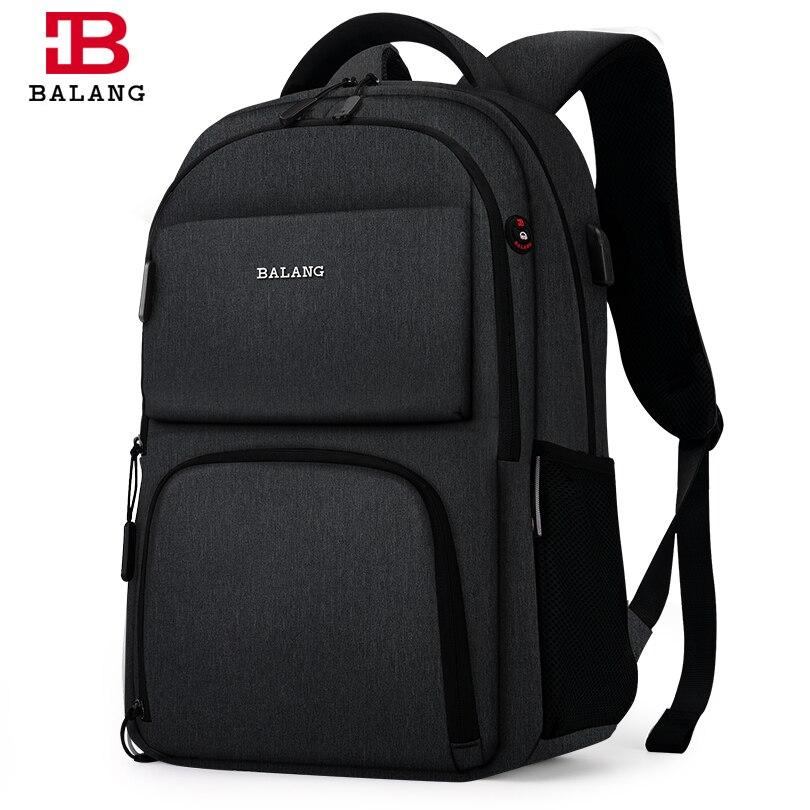 BALANG Marke 2019 Neue Laptop Rucksäcke für 15,6 zoll Männer Rucksäcke für Jugendliche Wasserdichte Rucksack Schule Taschen Reise Rucksack-in Rucksäcke aus Gepäck & Taschen bei  Gruppe 1