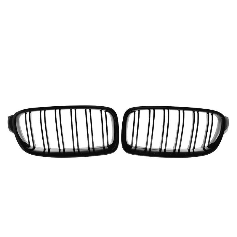 1 paire Grille de calandre avant pour BMW F30 F35 12-15 Grille de course de voiture noir