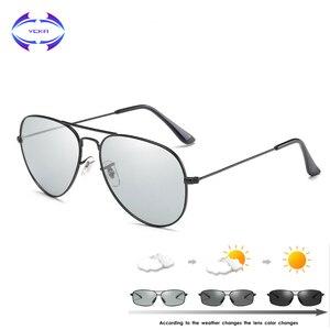 Image 1 - VCKA Photochromic משקפי שמש גברים נהיגה מקוטב משקפיים שמש זיקית טייס ראיית לילה משקפי משקפיים uv400 Eyewear