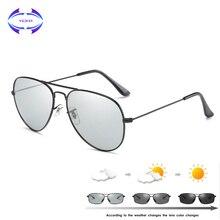 VCKA فوتوكروميك النظارات الشمسية الرجال القيادة نظارات شمسية مستقطبة الحرباء الطيار نظارات الرؤية الليلية نظارات uv400 نظارات
