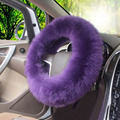 New Cute 38cm Long Wool Plush Steering wheel covers Hubs Winter fluffy  Warm Stretch Inner Rubber Ring Car Accessories