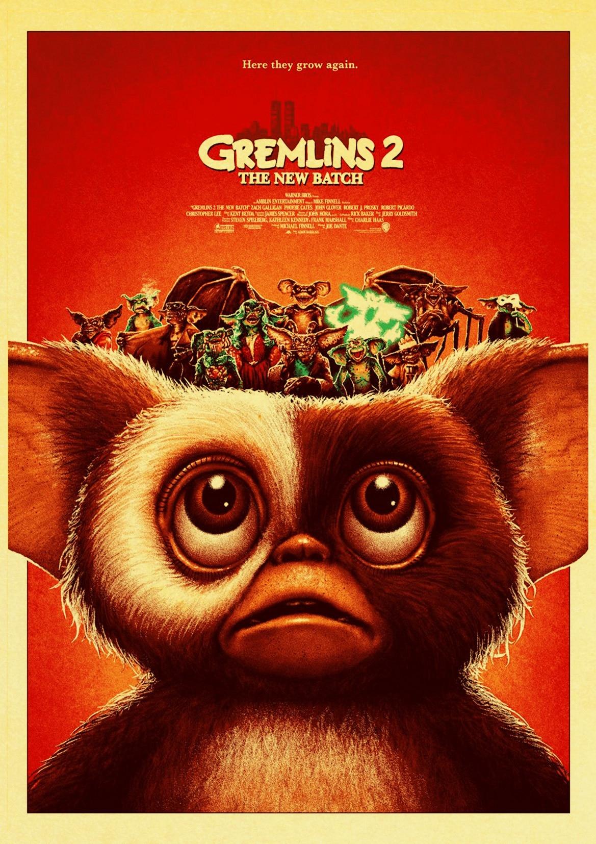 fantasy horror gremlins poster retro style decorative