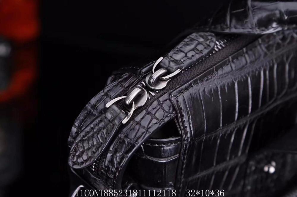 Business Haut Langen Echte Krokodilleder Kopf Luxus Junge Männer Handtasche Riemen tasche 100 Freizeit Qualität gXtnt