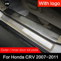 For Honda CRV 2007 2008 2009 2010 2011 Stainless Steel Door Sill Scuff Plate Cover Car Styling Accessories Guard Protector 4pcs