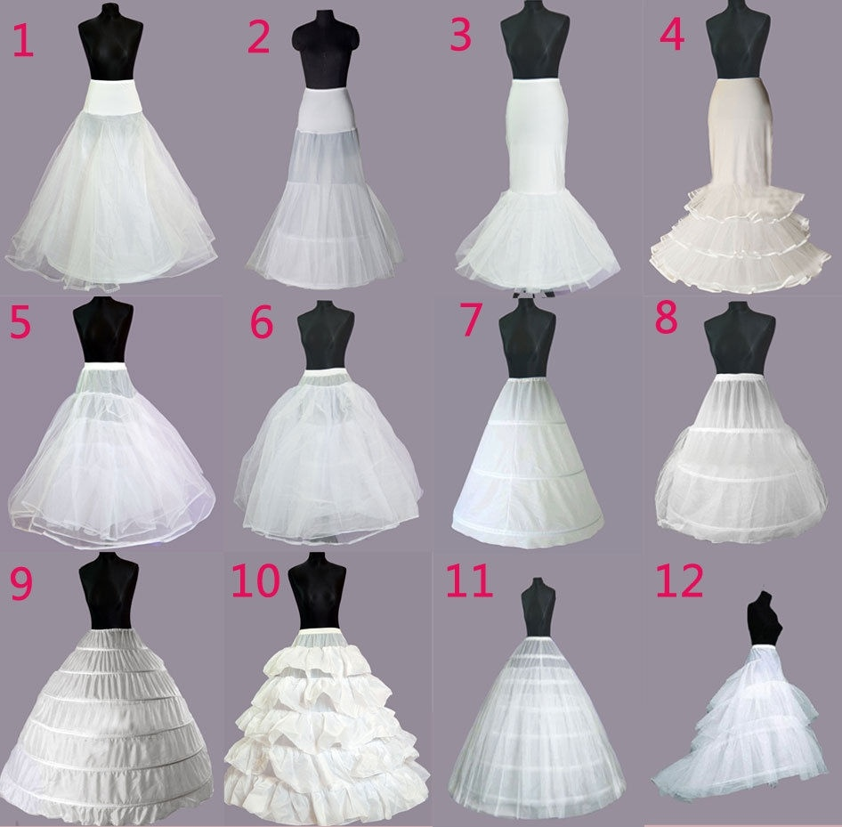 WEDDING BRIDAL DRESS PROM PETTICOAT HOOPS UNDERSKIRT CRINOLINE REGULAR WAIST