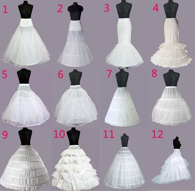 חתונה כלה שמלת נשף תחתונית חישוקי תחתוניות קרינולינה רגיל מותניים