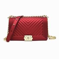Jollque Brand Women Messenger Bags Chain Shoulder Bag Luxury Designer Lady Handbag Purse Quilted Jelly Bag Sac a Main