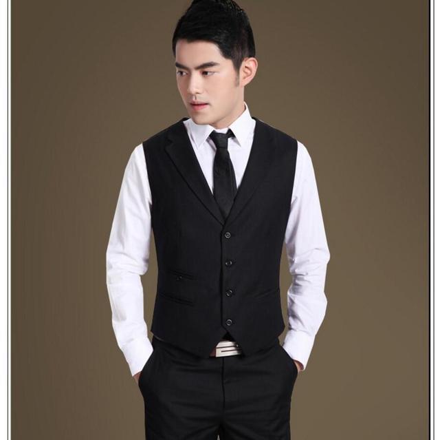 0ec0100c70 Nueva Llegada de los hombres de negocios de Moda traje de Chaleco Slim Fit  hombres chaleco