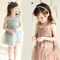 Meninas Da Criança Do Bebê vestido de Renda Floral Chiffon Vestido Tutu 3-8 T do bebê meninas roupas de Natal