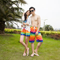 Rainbow Printed Men's Beach Pants Couple Holiday Leisure Big Yards Loose Shorts Male Quick-drying Beach Pants