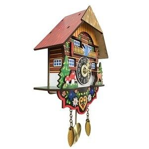 Image 5 - Heißer Stille Cuckoo Wanduhr, Gelb Europäischen Stil Wohnzimmer Vintage Wanduhr präzise