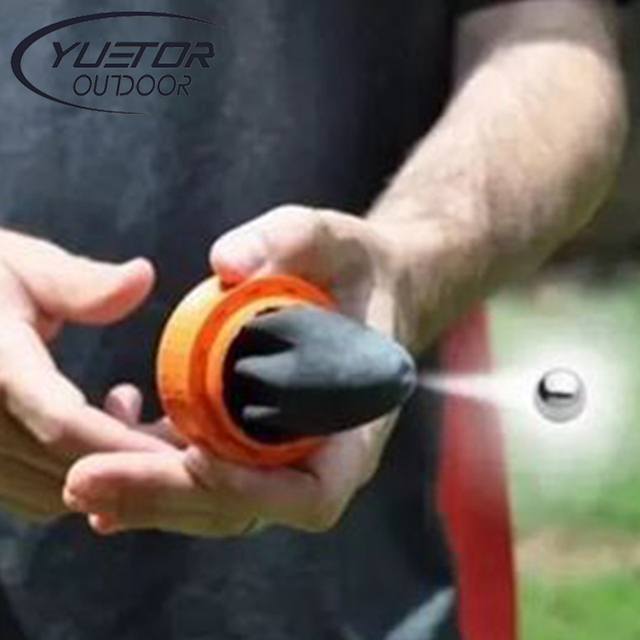 YUETOR Outdoor Travel Kits Slingshot Round Ball Toy Shooting Cup Device Hunting Compound Camping Bow and Arrow Pocket Shot
