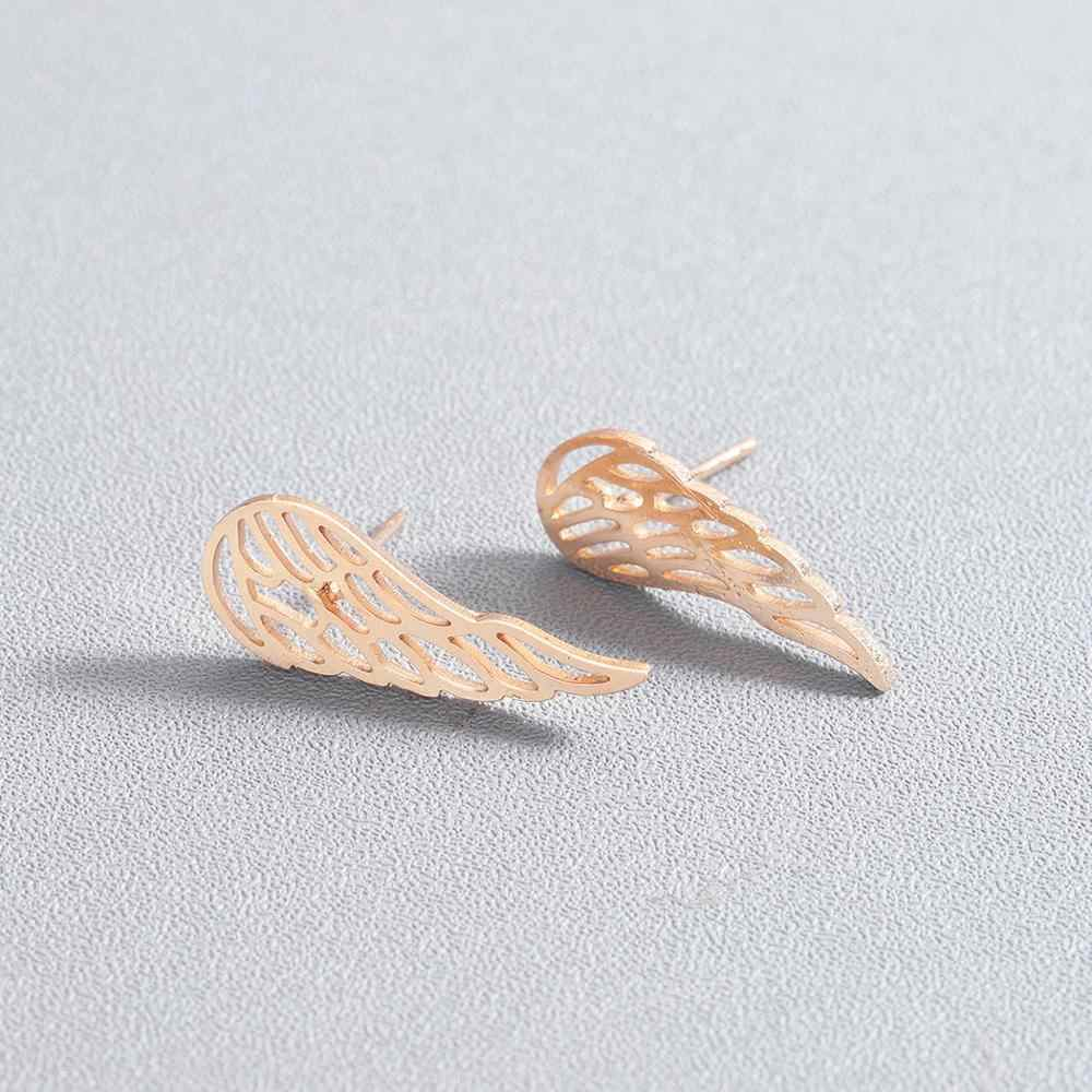 Chandler Ear Climber Wings Crawler Minimalist Earrings Minimal Climbers Dainty Hollow Out Angel Wing Studs For Women Girls Gift