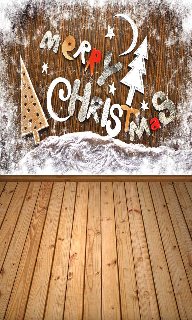 5x8ft Christmas backdrops Customized computer Printed vinyl photography background for photo studio st-193