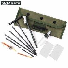 Rifle Gun Clean Kit Set Shotgun Cleaner Brush Rod Maintenance For .22 22LR .223 556 Caliber with Durable Pouch Gun Clean Tool