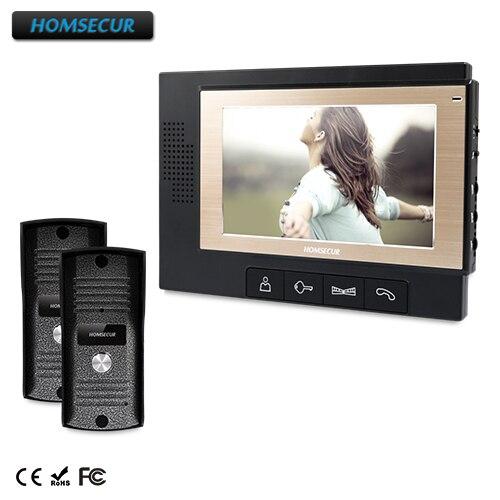 HOMSECUR 7 Wired Video Door Phone Intercom System with Dual-way Intercom : TC031  + TM702-B  HOMSECUR 7 Wired Video Door Phone Intercom System with Dual-way Intercom : TC031  + TM702-B