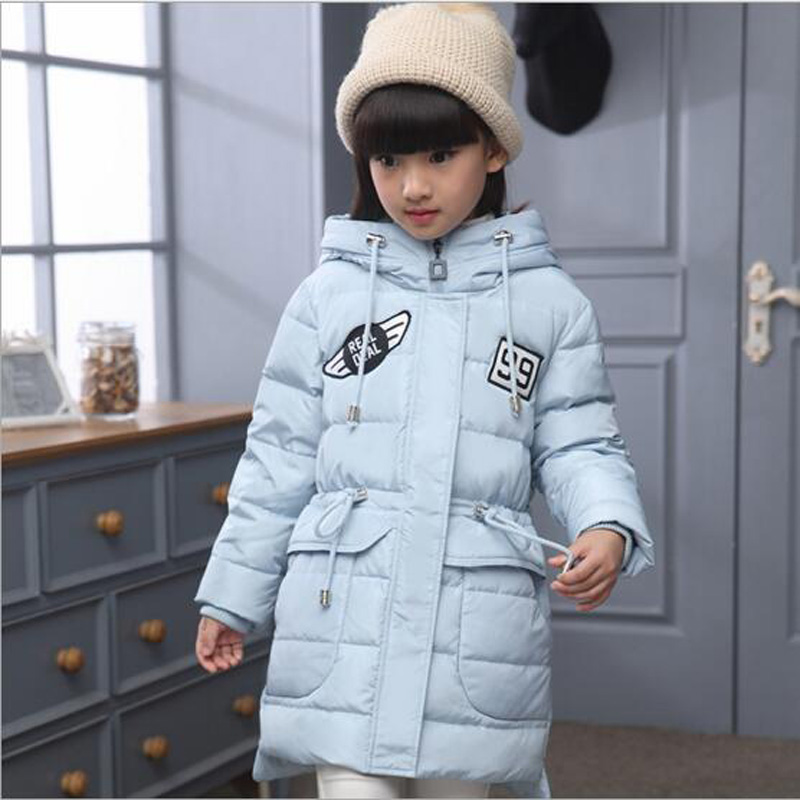 65096d2a34bf Baby girls long duck down coat for Winter clothes girls boys Jackets ...