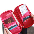 Multicolor Women Men Travel  Zipper Wallet Fabric Passport  Case Cover Wallet Purse Organizer Bag  Card Holder