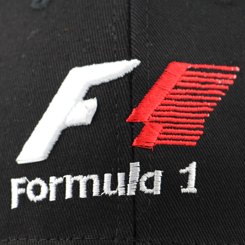 men formula 1 Baseball Caps Black F1 3D Embroidery Hats Motorcycle Racing  MOTO GP Caps Outdoor adjustable Sports Sun Hat gorro