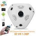 """360 Панорамные Камеры 960 P VR IP WiFi Камеры Объектив """"Рыбий Глаз"""" 1.3MP 3D Ip-камеры Безопасности Беспроводной Ночного Видения Видеонаблюдения Cam"""