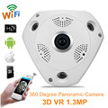 360 Cámara Panorámica 960 P VR Cámara IP WiFi Lente Ojo de Pez 1.3MP 3D IP Cámara Inalámbrica de Seguridad CCTV de La Visión Nocturna de Vigilancia Cam