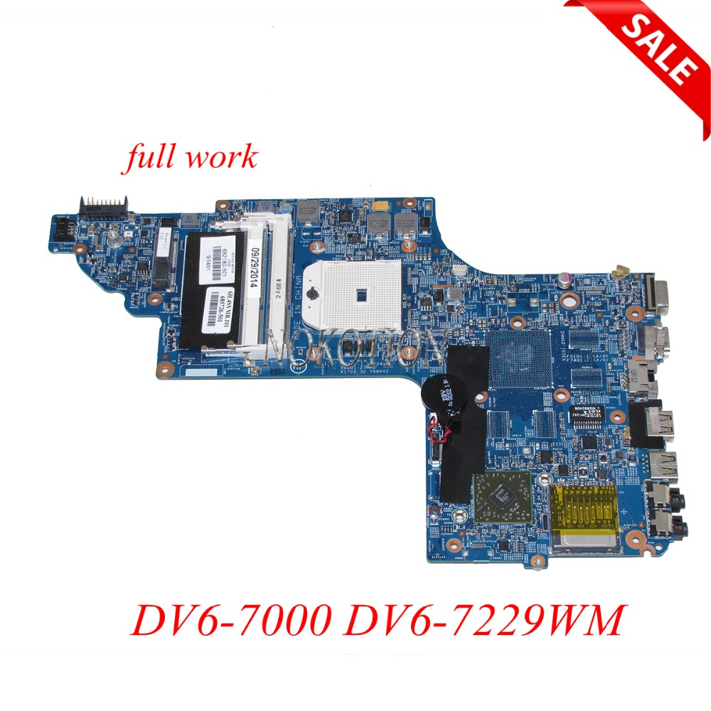 NOKOTION 682180-001 682180-501 685726-501 Laptop motherboard For HP Envy DV6-7000 DV6-7229WM main board 15.6 DDR3 worksNOKOTION 682180-001 682180-501 685726-501 Laptop motherboard For HP Envy DV6-7000 DV6-7229WM main board 15.6 DDR3 works
