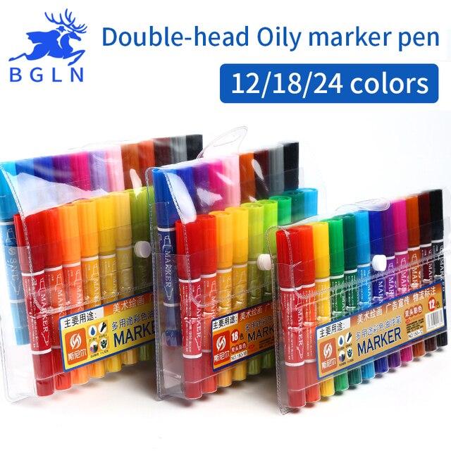 Bgln 121824 Colores Marcadores Aceitosos Pluma Doble Cabeza