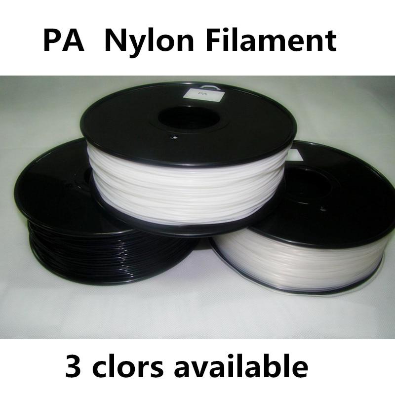 Reprap 3d printer filaments PA(Nylon) MakerBot-RepRap-UP-Mendel Material Plastic Consumables