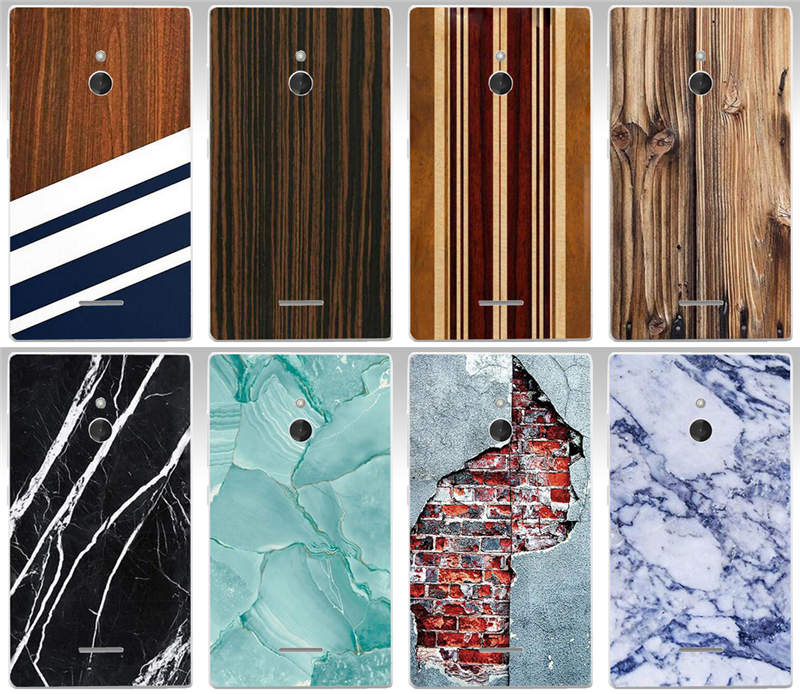 New Arrival Design Paiting Wood texture Colorful Marbling PC Painted Case For Nokia XL Dual SIM 1042 Phone Case Cover Shell