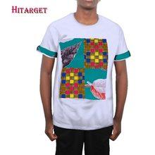 african shirts for men Summer African Mens Panel Short T-Shirt shirt customizable lening  WYN385