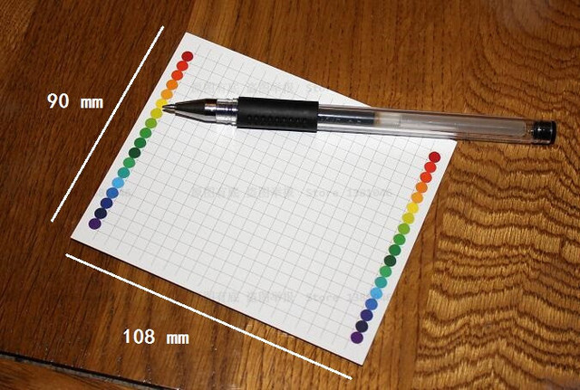 50 sheets grid paper cardstock file tab document catalog notepad index card 90 x 108mm