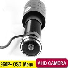 960P 1.78mm Fisheye Lens Wide Angle Mini AHD Camera 1.3Megapixel PIR Camera CCTV Pinhole AHD Mini Camera with OSD Button