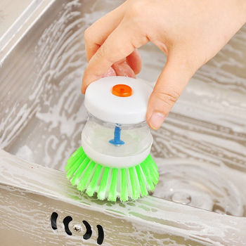 Creative Hydraulic Washing Brush Adding Liquid Washing Pot Brush Convenient Kitchen Cleaning Brush Kitchen Gadget Cleaning Tools Cleaning Tools