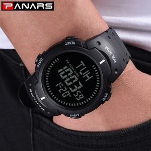 Image 5 - PANARS Compass Watch Sport Outdoor Men Watch Digital Electronic Wrist Watches Male Stopwatch Chronograph Shockproof Waterproof