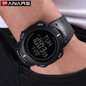 Image 5 - PANARS boussole montre Sport plein air hommes montre numérique électronique montres bracelets mâle chronographe chronomètre antichoc étanche