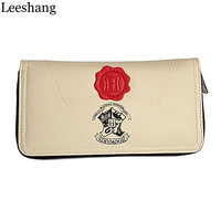 Leeshang Harry Potter Letter Zip Wallet PU Long Fashion Women Wallets Designer Brand Purse Lady Party