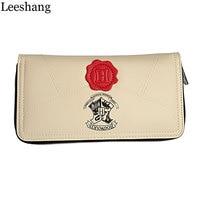 Leeshang Harry Potter Letter Zip Wallet PU Long Fashion Women Wallets Designer Brand Purse Lady Party