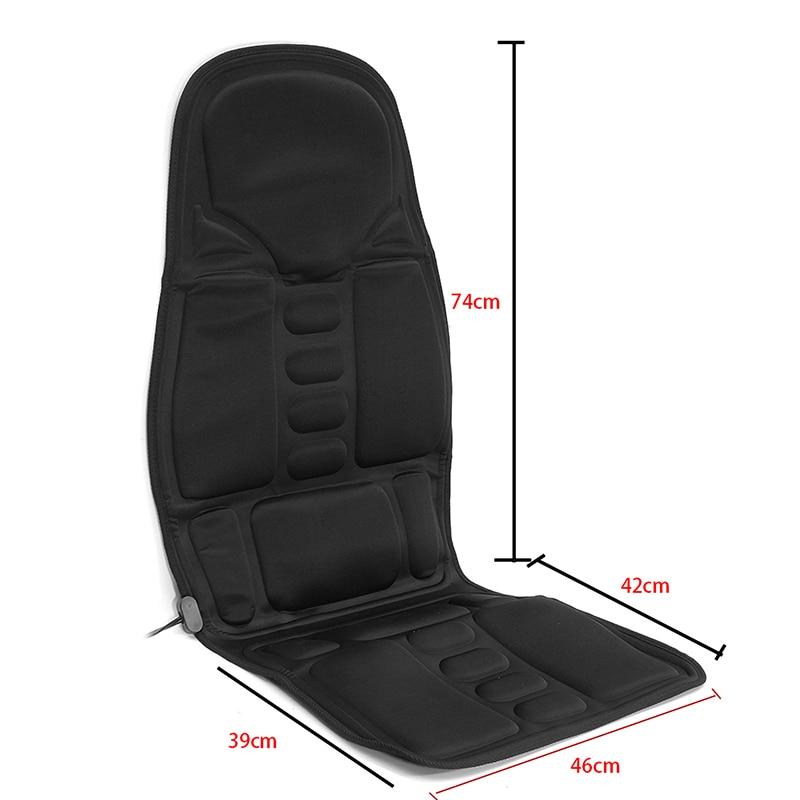 Coussin de Massage de voiture haute qualité Nylon électrique multifonction chauffage du dos voiture Massage siège taille cou Relaxation outil de Massage