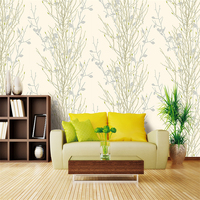 High End New American American Magnolia Flower Trees Deep Pressure PVC Mildew Wallpaper Full House Wallpaper