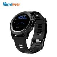 Microwear H1 Смарт часы Android 4,4 Водонепроницаемый 1,39 MTK6572 BT 4,0 3g Wi Fi gps SIM для iPhone Smartwatch Для мужчин носимых устройств