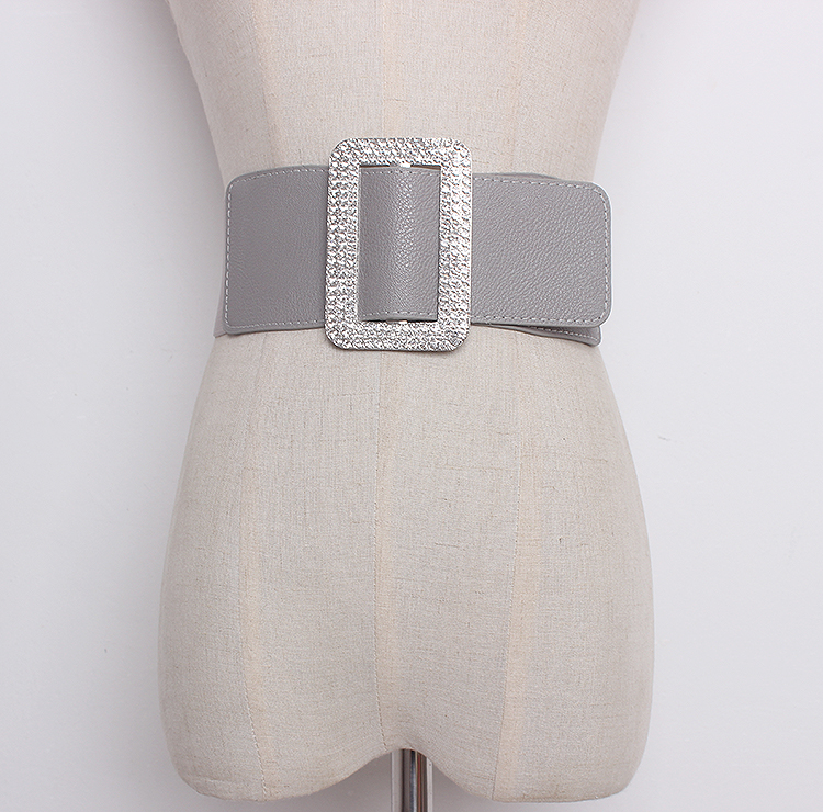Women's Runway Fashion Elastic Pu Leather Cummerbunds Female Dress Corsets Waistband Belts Bow Decoration Wide Belt R1301