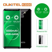 "Original Oukitel K5000 4G LTE Mobile Phone 4GB RAM 64GB ROM MT6750V Octa Core Android 7.0 5.7""HD 5000mAh 16MP Fingerprint OTG"